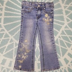 Arizona Jeans Embroidered Butterfly jeans